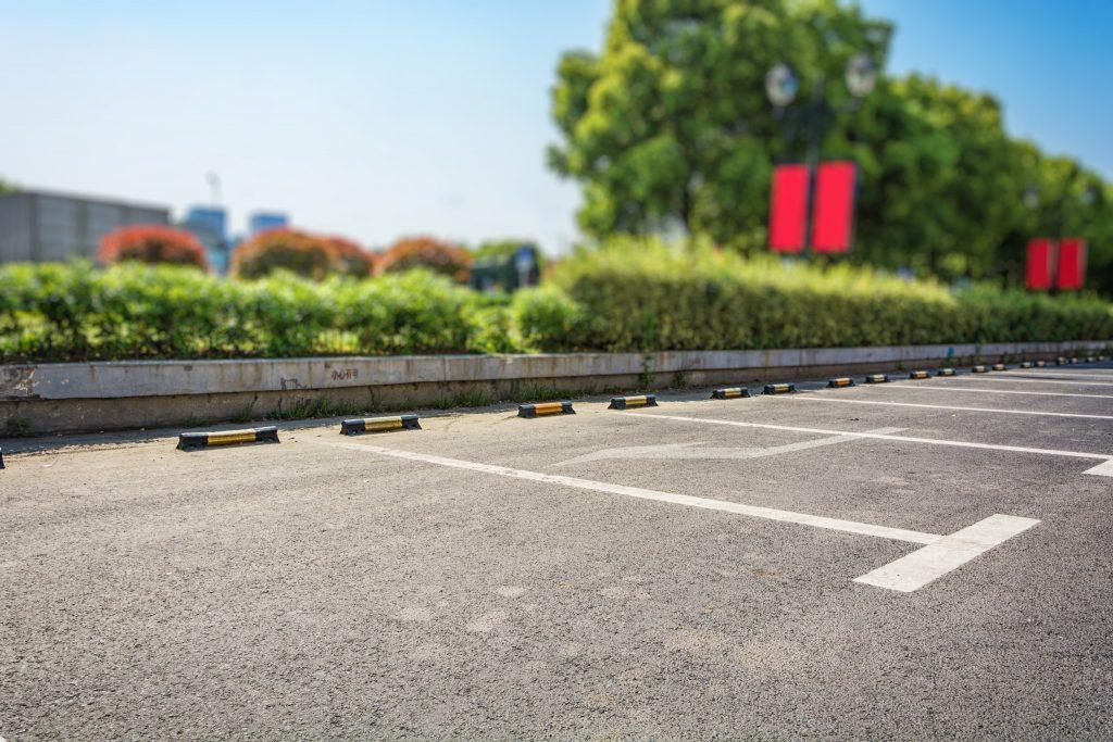 Aparcamientos en zonas abiertas para furgonetas